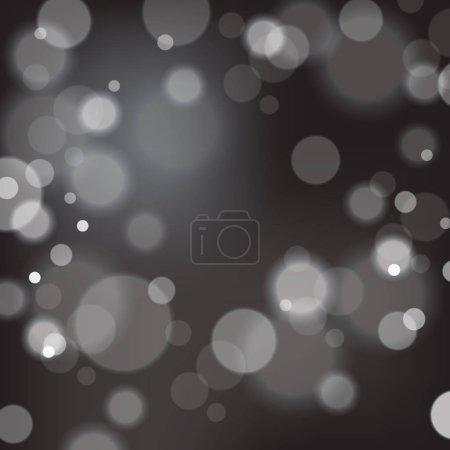 Illustration for Festive background with bokeh defocused lights. Vector illustration. - Royalty Free Image