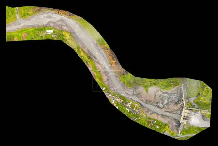 High Resolution Orthorectified, Orthorectification Aerial Map Used For Photogrammetry In Banos Ecuador