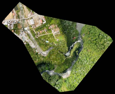 Orthorectified Drone Aerial Map Used In Photogrammetr