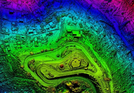 High Resolution Orthorectified, Orthorectification Aerial Map Used For Photogrammetry Panecillo Hill In Quito Ecuador