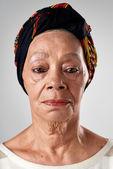 senior mixed race woman face