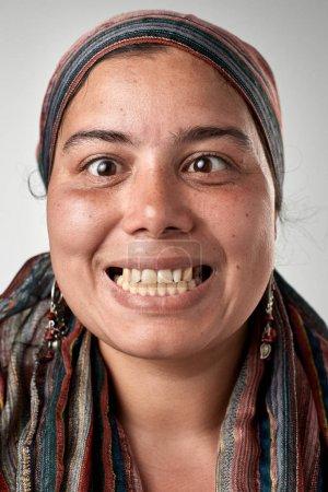 mixed race woman face