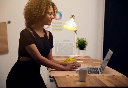 Fashion designer in atelier