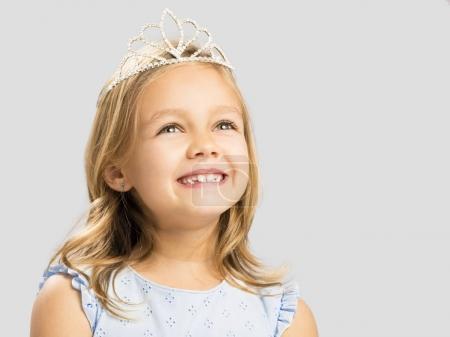 girl wearing princess crown