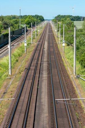 Railroad tracks in Germany