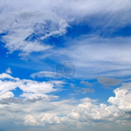 Photo for Beautiful clouds in blue sky - Royalty Free Image