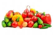 """Постер, картина, фотообои """"Коллекция свежих фруктов и овощей"""""""