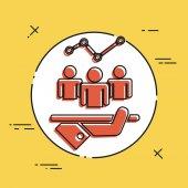 Analytische Dienstleistungen-Symbol