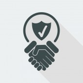 Trust for protection icon