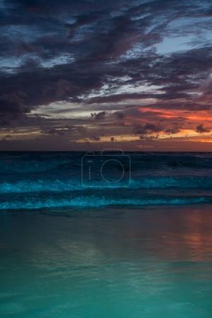 Amazing sea beach sunset