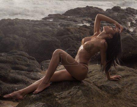 Sensual woman at the beach