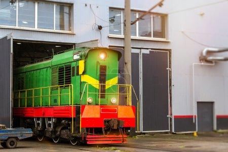 Locomotiv on railroad track