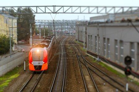 High-speed electric train, railway