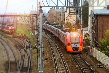 High-speed electric train, railway