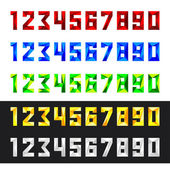 Numbers set 0-9 polygonal style