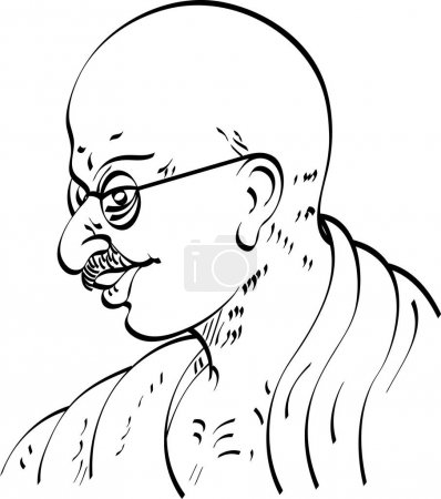 Calligraphic Mahatma Gandhi Ji Political