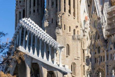 BARCELONA SPAIN - February 9, 2017: Sagrada Familia in Barcelona