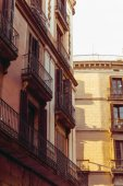 Cityscape in Barcelona Europe - street view of Old town in Barce