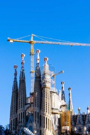 BARCELONA SPAIN - February 9, 2017:  Basilica and Expiatory Chur