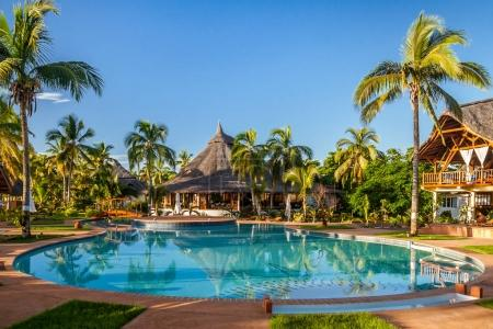 Photo for Tropical swimming pool of luxury hotel in Nosy Be, Madagascar - Royalty Free Image