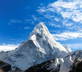 View of mount Ama Dablam on the way to Everest Base Camp