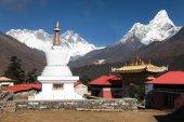 AMA Dablam Lhotse und Spitze des Mount Everest von tengboche