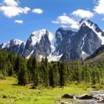 Savlo szavlo valley and rock face - altai mountain...
