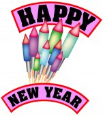 Happy New Year with a bunch of bottle rockets