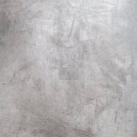 Old scratched metal texture, steel background