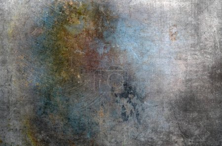 Photo for Background of old rusty grunge metal wall - Royalty Free Image