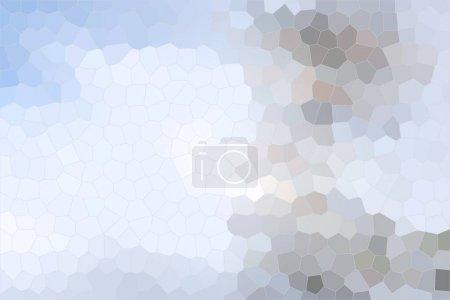 Photo pour Simple fond bas poly argenté de formes pentagonales, hexagonales et heptagonales en différentes couleurs - image libre de droit