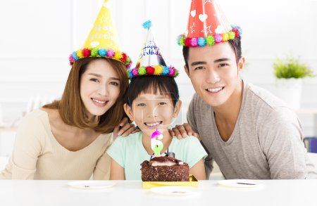 Happy Family Celebrating daughter's  Birthday...