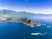 aerial view of coast Sansiantai in Taitung. Taiwan