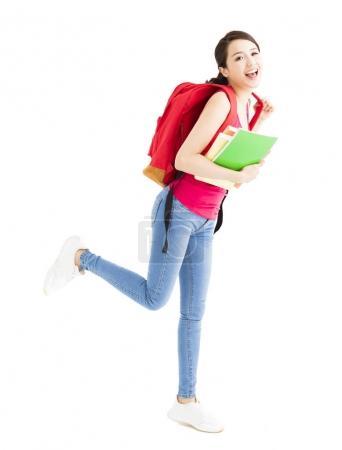 portrait of happy smiling female student