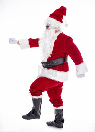 Photo for Happy  Santa Claus isolated on white background - Royalty Free Image