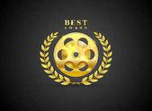 movie prize award best winner vector