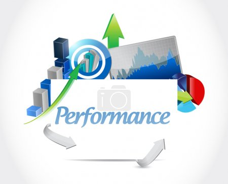 Photo for Business performance graphs illustration design over a white background - Royalty Free Image