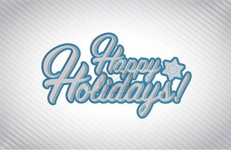 Happy holidays sign white background