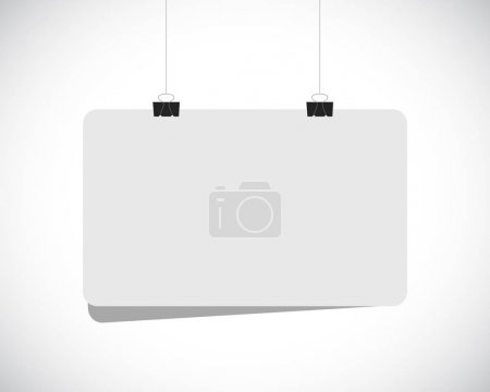 Photo for Blank white hanging banner illustration design over a white background - Royalty Free Image
