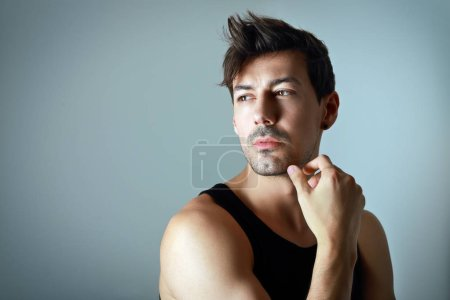 portrait of pensive young man
