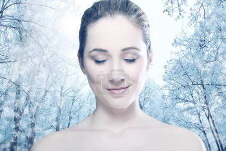 Head and shoulders of young woman
