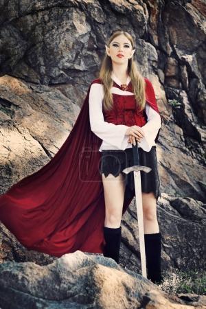 Elf girl in red cloak