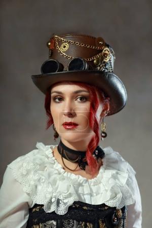 Beautiful steampunk girl