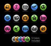 Ipari és logisztikai Icon set - Gelcolor sorozat