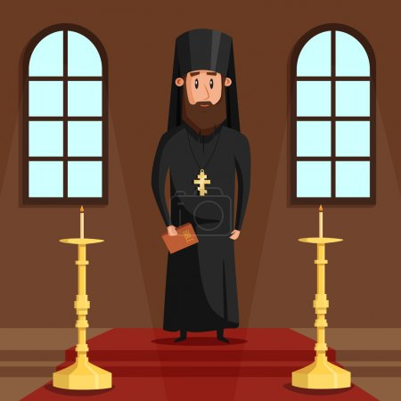 Orthodox christian priest or bishop with beard