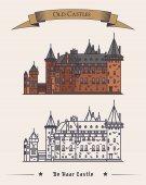 Architecture of de haar castle in netherlands