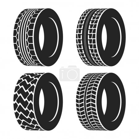 Truck or tractor, car tire, automobile wheel