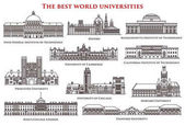 Set of isolated university and institute college