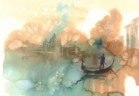 sketch of Venice watercolor