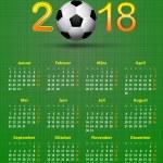 Постер, плакат: Deutsch calendar 2018 Soccer theme linen back soccer ball calen
